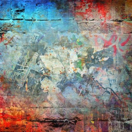 pared rota: Fondo colorido abstracto