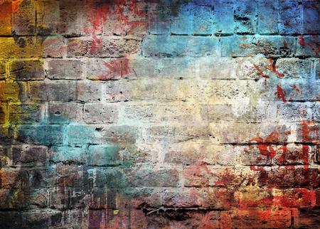 落書きの壁の背景 写真素材