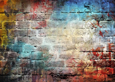 stained concrete: Graffiti wall background