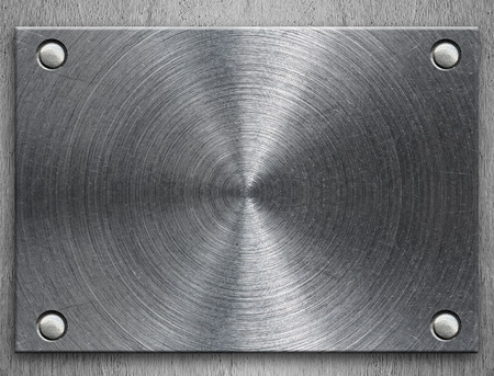Polished metal plate photo