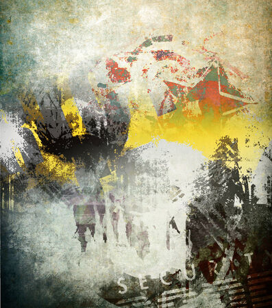 graffiti brown: Abstrat grunge background