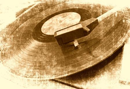 Vinyl player music background