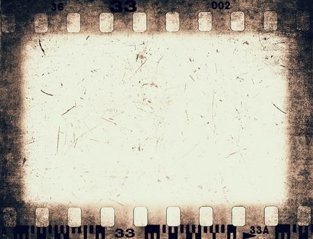 Grunge color filmstrip texture