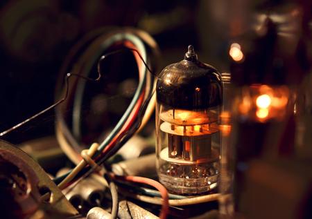 Old vacuum tubes photo