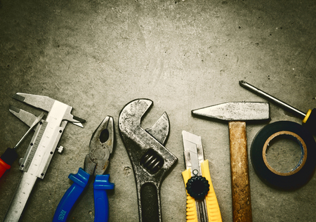 Tools grunge background photo
