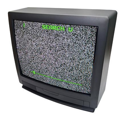 TV on white background photo