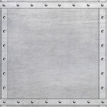 riveted metal: Metal frame