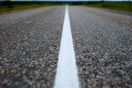 road surface: Road line closeup