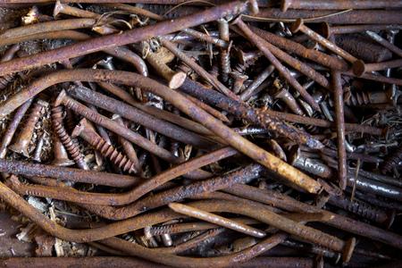 rusty nail: Rusty nails Stock Photo