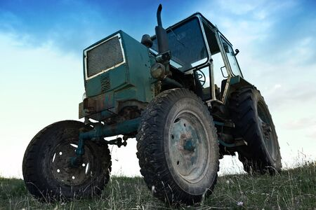 old tractors: Tractor Stock Photo