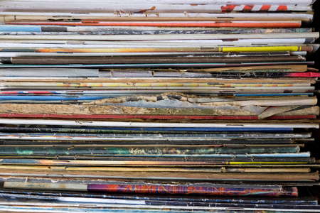 magazine stack: Stack of paper and files