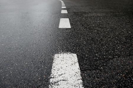 アスファルト道路 写真素材