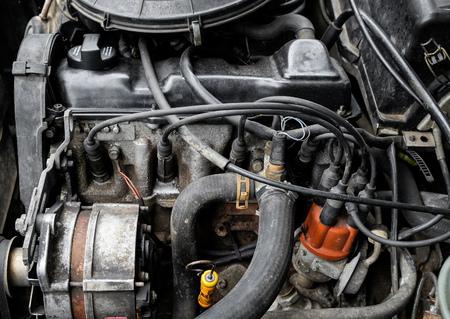 engines: Old car engine Stock Photo