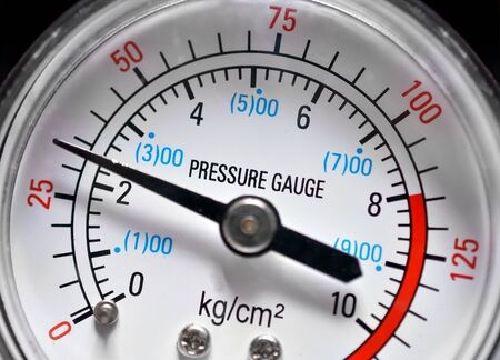 pressure gauge: Pressure gauge Stock Photo