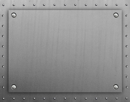 rivets: Metal plate with rivets Stock Photo