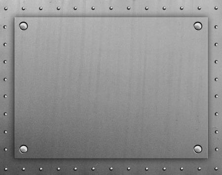 Plaque de métal avec des rivets Banque d'images - 43699503