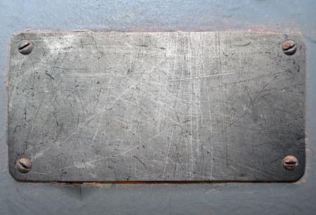 scratched metal: Scratched metal plate