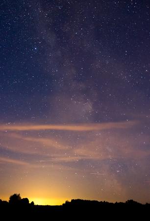paisajes noche pareja: Cielo nocturno Foto de archivo