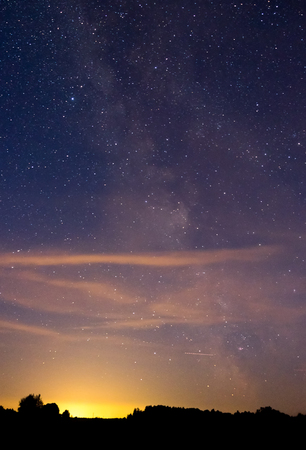 the night sky: Night sky Stock Photo