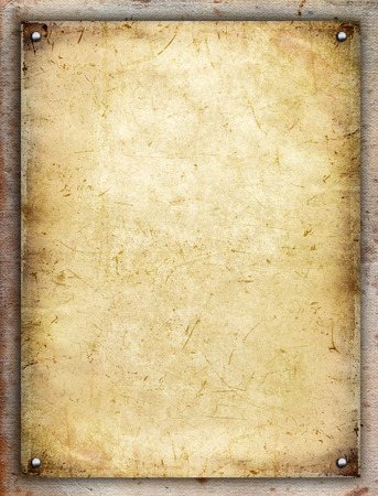 wooden frame: Paper board Stock Photo