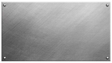 siderurgia: L�mina de metal con remaches  Foto de archivo