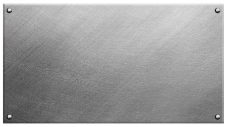Metal plate with rivets Stockfoto