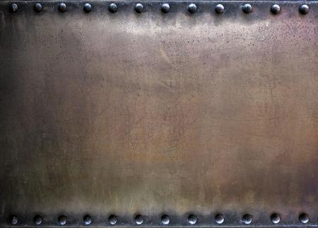 Fondo de metal clavado