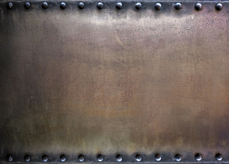 riveted: Riveted metal background