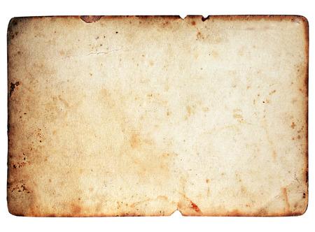 Blanco papier textuur geïsoleerd op een witte achtergrond Stockfoto - 50649655