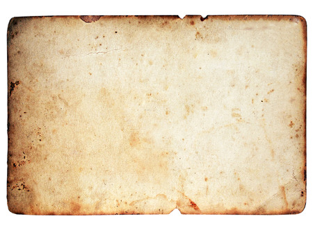 old frame: Blank paper texture isolated on white background Stock Photo