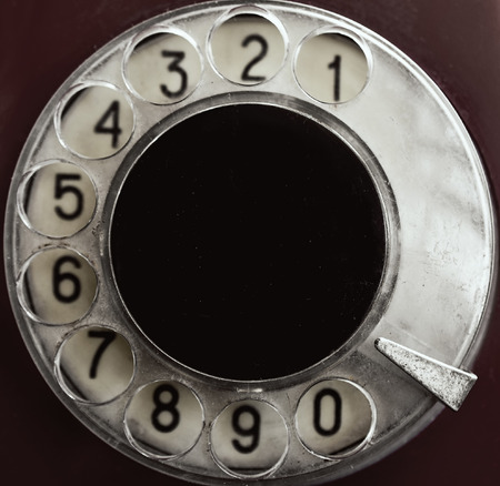 rotary: Rotary phone numbers close up Stock Photo