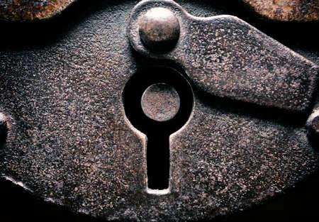 key hole: Key hole close up Stock Photo
