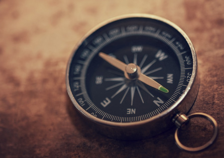 magnetic north: Vintage compass