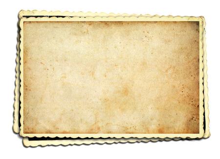 Old photo frame on white background Stockfoto