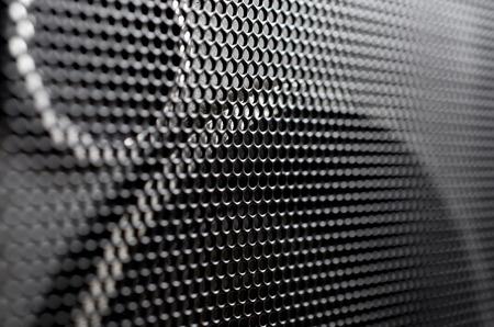 orador: rejilla metálica altavoz de audio