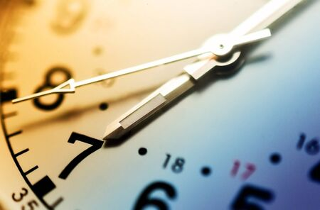 time clock: Watch close up Stock Photo
