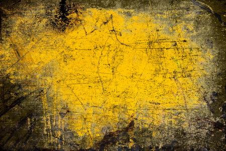 grunge frame: Grunge frame, black and yellow texture