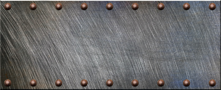 rivets: Steel plate with rivets