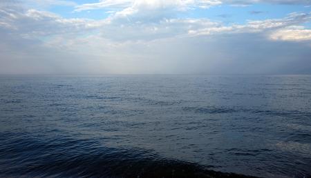 dark skies: Ocean horizon Stock Photo