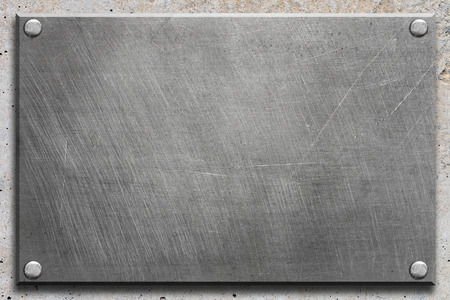 steel plate: Steel plate with rivets