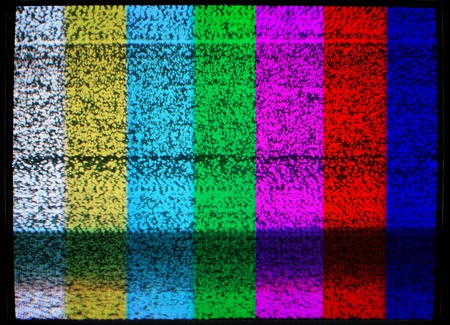malfunction: TV screen malfunction background Stock Photo