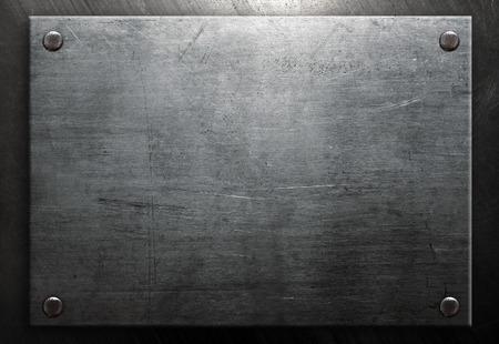 rivets: Metal board with rivets