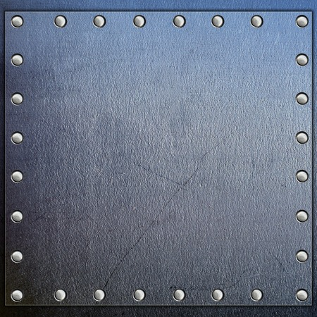 rivets: Metal frame with rivets