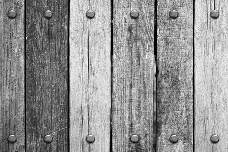 rivets: Wooden planks with rivets