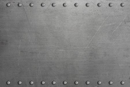 リベットで留められた金属板 写真素材