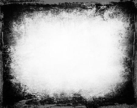 grunge frame: Grunge frame black and white background