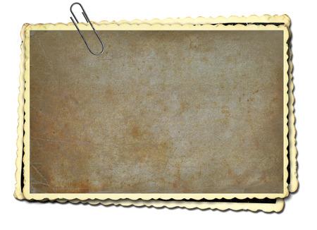 worn paper: Photo frame on white background
