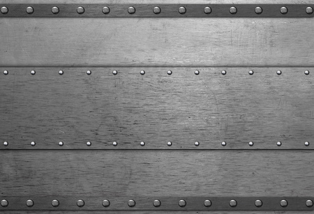 rivets: Metal plate with rivets on steel background