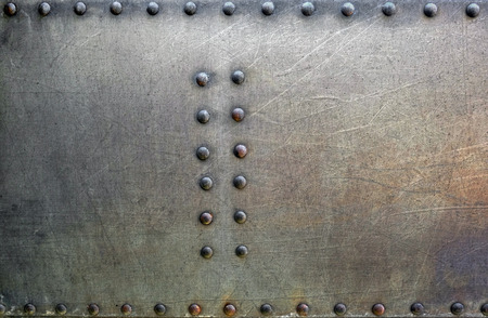 rivets: Metal background with rivets Stock Photo