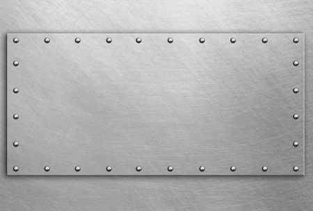 silver metal: Polished steel plate on metal background